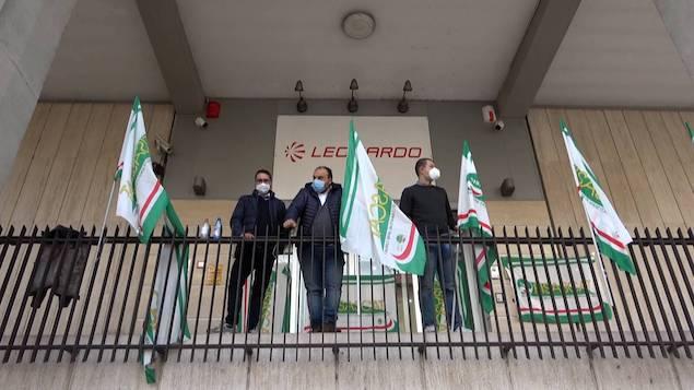 Sit-in lavoratori Leonardo. Fisascat Cisl: Vergognoso atteggiamento multinazionale