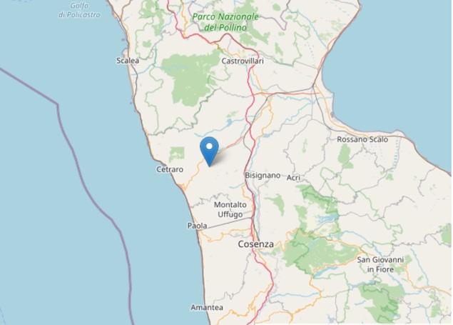 Terremoto: nuova scossa di magnitudo ML 2.0 a Mongrassano (CS)