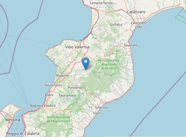 Terremoto: nuova scossa di magnitudo ML 2.6 a Dinami (VV)