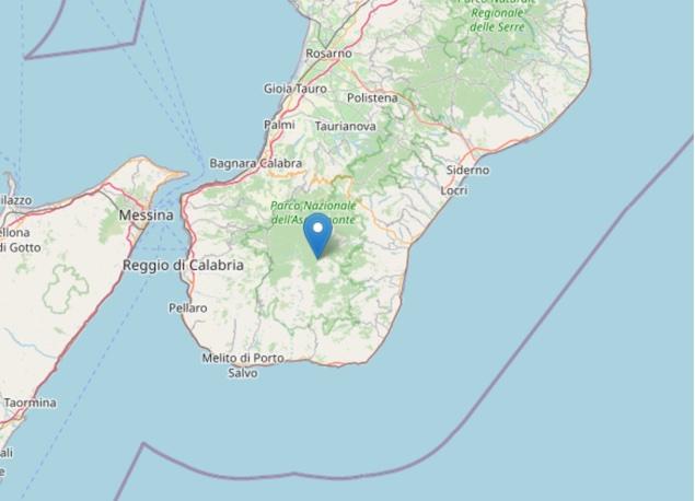 Terremoto: scossa di magnitudo ML 2.8 a Roccaforte del Greco (RC)