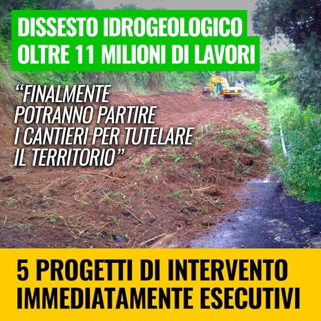 Calabria: dissesto idrogeologico, 5 Stelle annunciano l'arrivo di oltre 11mln