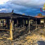 Un incendio distrugge uno stabilimento balneare a Scalea