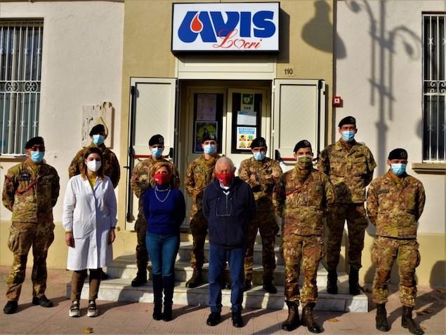 Militari Strade Sicure partecipano a campagna donazione sangue