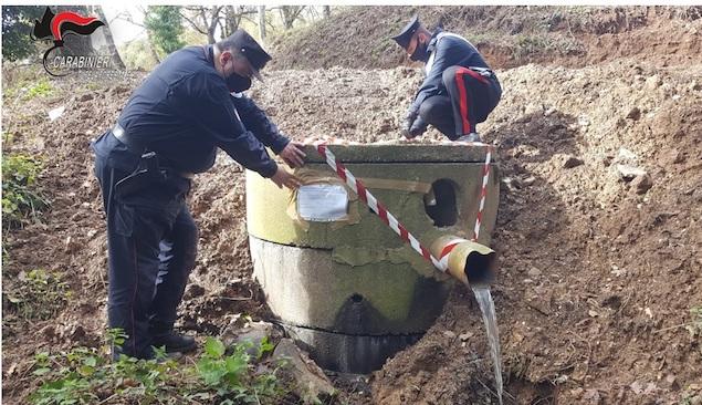Platania. Sequestrata vasca raccolta acque reflue provenienti dalla condotta fognaria comunale