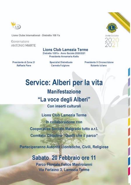 Alberi per la Vita, il service organizzato dal Lions Club Lamezia Terme