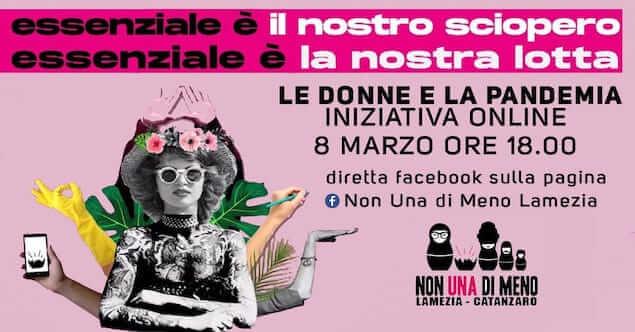 Lamezia. l'8 Marzo l'iniziativa online di 'Non una di meno'