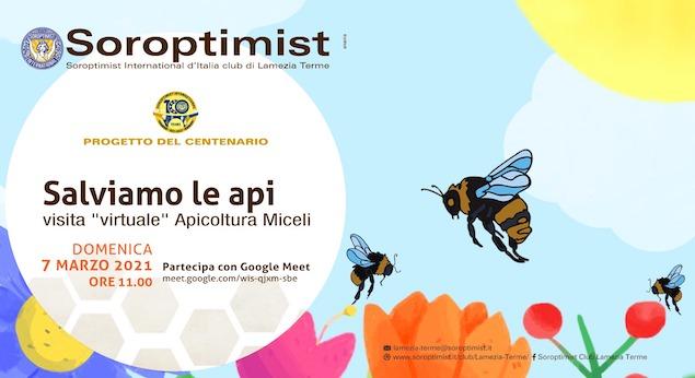 """Progetto del Soroptimist """"Adotta un'arnia"""": visita virtuale all'Apicoltura di Lamezia"""