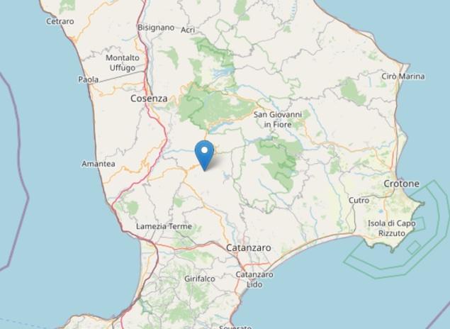 Terremoto: scossa di magnitudo ML 2.0 a Bianchi (CS)