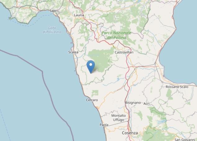 Terremoto: scossa di magnitudo ML 3.0 a Buonvicino (CS)