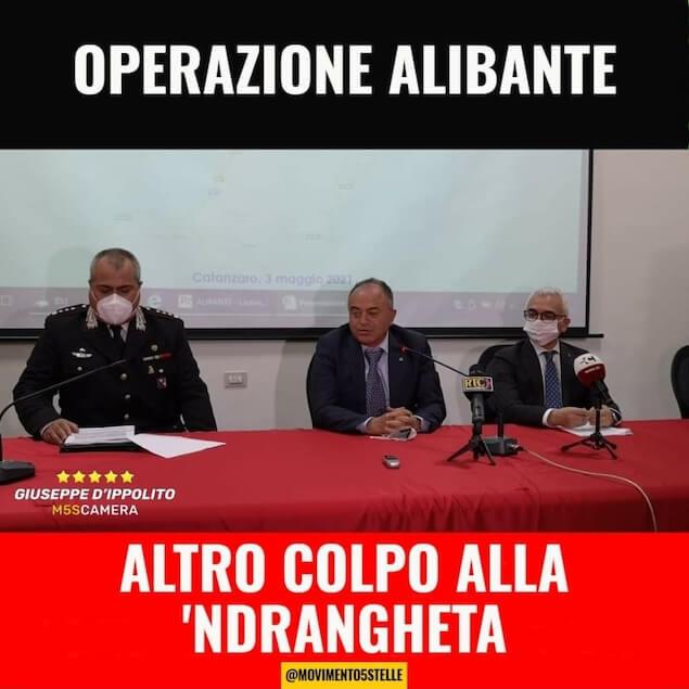 D'Ippolito (M5S): operazione Alibante dimostra la forza della magistratura