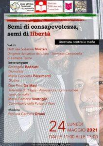 """Al Liceo """"Tommaso Campanella"""" celebrata la Giornata contro le mafie"""
