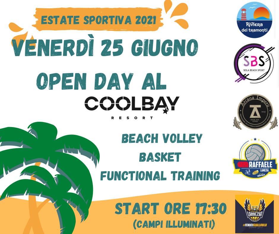 Gizzeria. Open day per l'area sportiva al Coolbay Resort