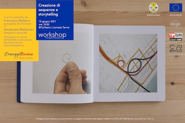 """A Lamezia workshop sulla """"Creazione di sequenze e storytelling"""""""