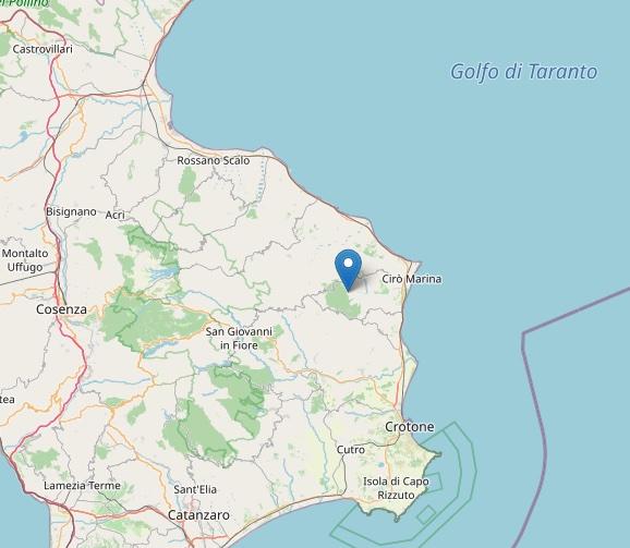 Terremoto: scossa di magnitudo ML 2.3 a Carfizzi (KR)