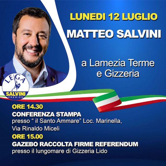 Furgiuele: Matteo Salvini a Lamezia e nel Comprensorio