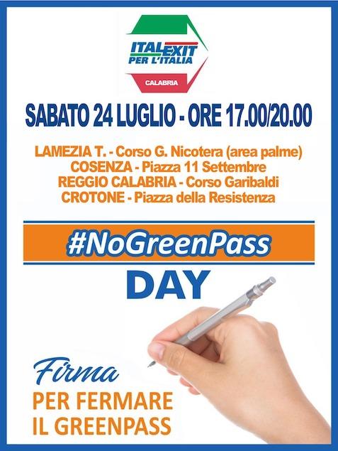 "Italexit Con Paragone Lancia I ""No Greenpass Day"""