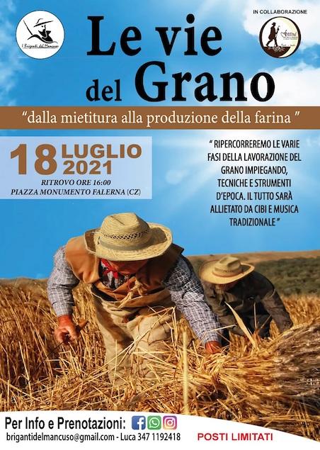 """""""Le vie del grano"""" a Falerna domenica 18 luglio"""