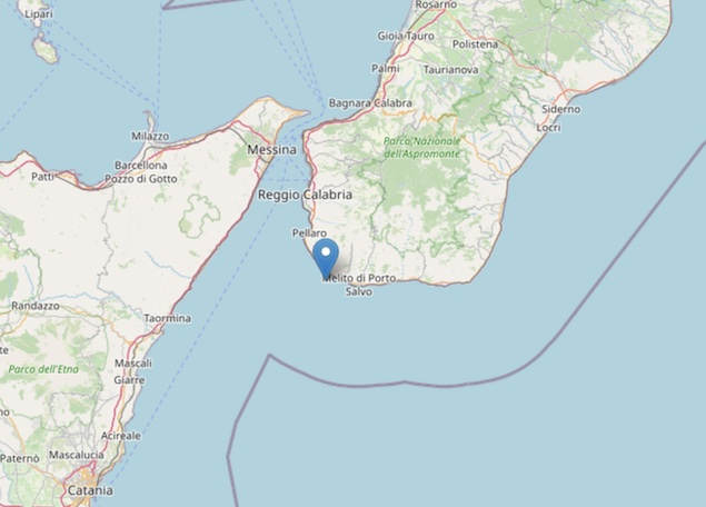 Nella notte terremoto di magnitudo 3 nello Stretto di Messina