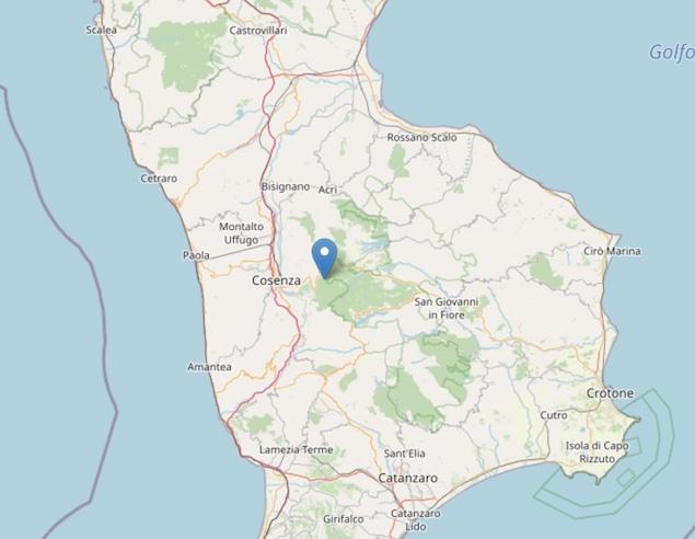Terremoto: scossa di magnitudo ML 2.4 a Celico (CS)