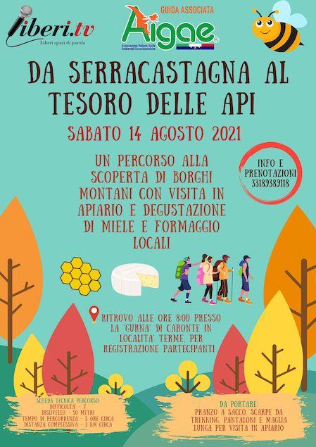 """Il 14 agosto l'escursione """"Da Serracastagna al tesoro delle api"""""""