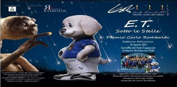 Questa sera l'evento E.T. sotto le stelle VII edizione premio Carlo Rambaldi