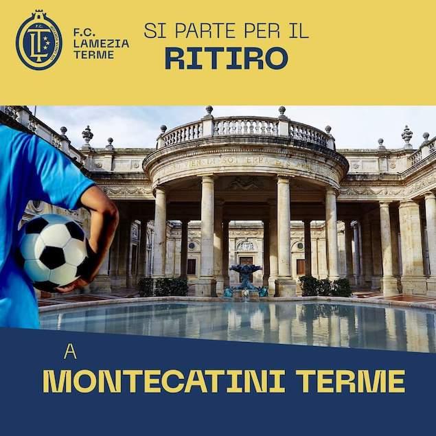 FC Lamezia Terme in partenza per il ritiro, direzione Montecatini