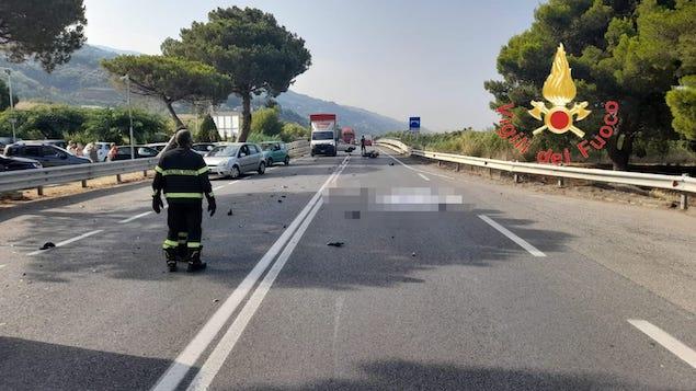 Fiumefreddo (CS). Incidente stradale sulla SS18, morto un 25enne