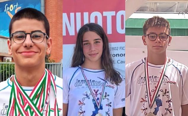 Gianluca Pittelli, Martina Maglia e Gabriele Muggeri