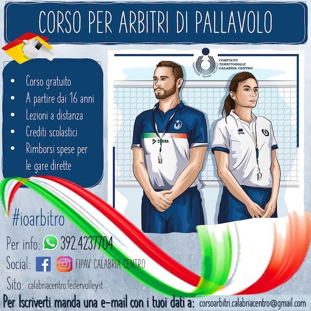 Pallavolo. FIPAV Calabria Centro avvia corso per arbitro