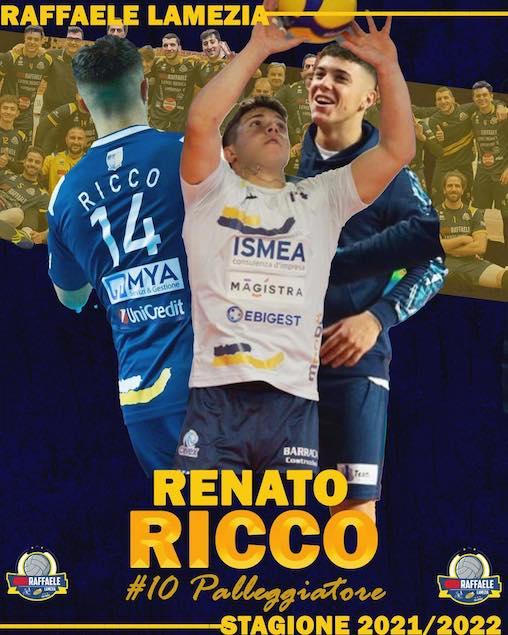 Raffaele Lamezia da il benvenuto al palleggiatore Renato Ricco