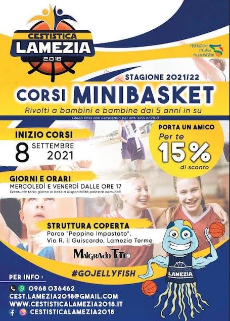 Ripartono i corsi Minibasket della Cestistica Lamezia 2.018
