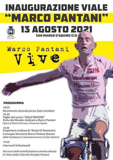 San Mango D'Aquino, oggi l'inaugurazione di Viale Marco Pantani