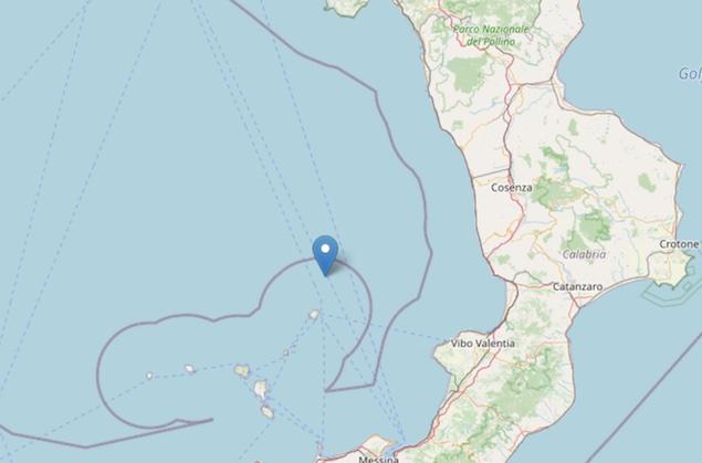 Terremoto di magnitudo ML 3.2 al largo di Lamezia Terme