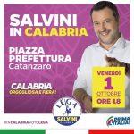 Salvini in Calabria per la chiusura nazionale della campagna elettorale