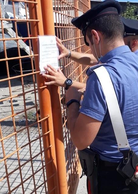 Catanzaro: i Carabinieri sequestrano un cantiere navale