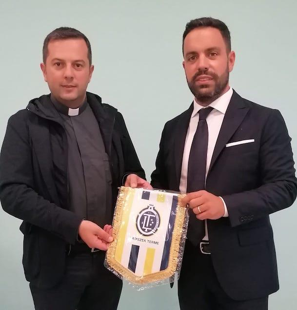FC Lamezia Terme: il presidente Saladini incontra don Fabio Stanizzo