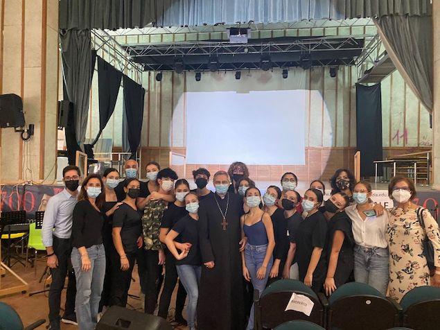Lamezia. S.E. Mons. Giuseppe Schillaci in visita al Liceo Campanella