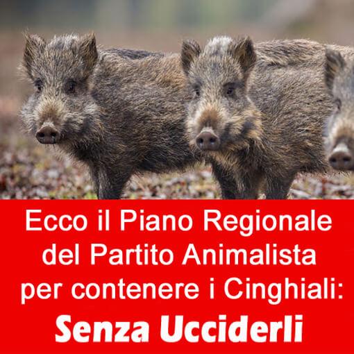 """Il Partito Animalista presenta il """"Piano Regionale per il Contenimento dei Cinghiali"""""""