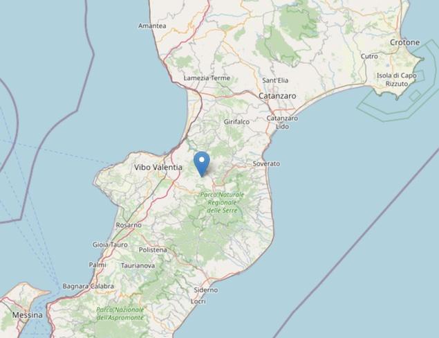 Terremoto: scossa di magnitudo ML 2.4 a Vallelonga (VV)