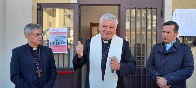 Elemosiniere del Papa alla riapertura del dormitorio 'Querce di Mamre'