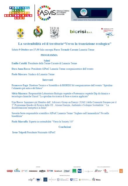 Festival della sostenibilità a Lamezia Terme grazie ad AIParC e Biorisi S.r.l.