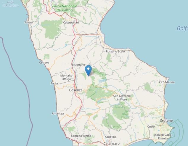 Terremoto: scossa di magnitudo ML 2.2 a Rose (CS)